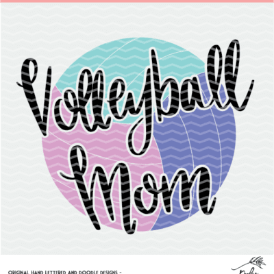 Volleyball Digital Design - SVG, DXF, PNG