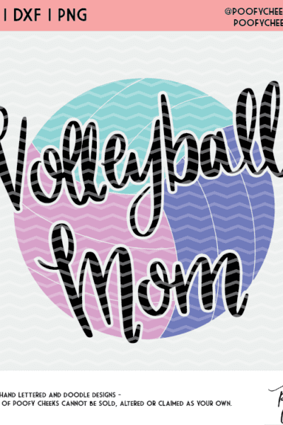 Volleyball Cut File – Cricut SVG, Silhouette DXF and PNG