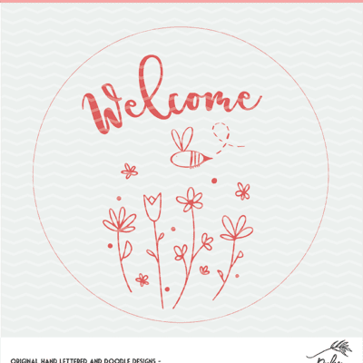 Welcome Spring Floral Cut File