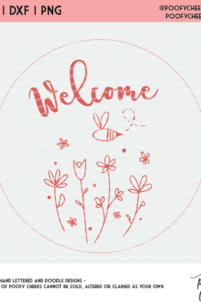 Spring Welcome Cut File for Silhouette and Cricut – SVG, DXF, PNG