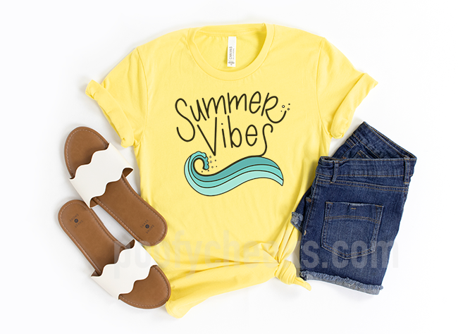 Summer Vibes Wave Digital Design