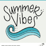 Summer Vibes Wave Digital Design