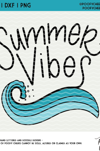 Beach Summer Vibes Cut File – PNG, SVG, DXF for Silhouette Cameo and Cricut