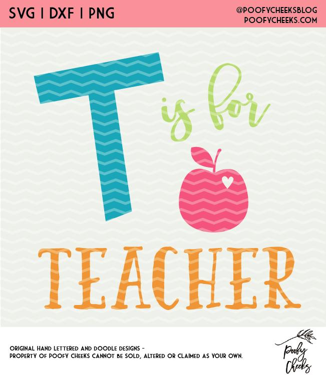 T is for Teacher Digital Design SVG