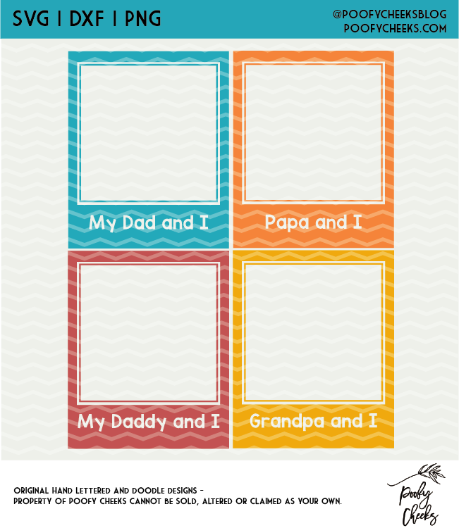 My Dad and I Father's Day Cut File Digital Design