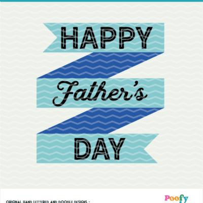 Happy Father's Day SVG Cut File Digital Design