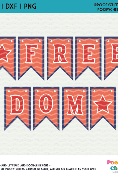 Layered Cardstock Banner Tutorial and Freedom Banner Cut File SVG
