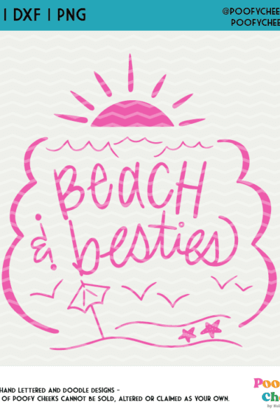 Beach and Besties Cut File for Silhouette Cameo and Cricut – SVG, DXF and PNG