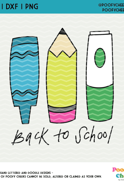 Back to School Cut Files – SVG, DXF and PNG for Cricut and Silhouette Cameo