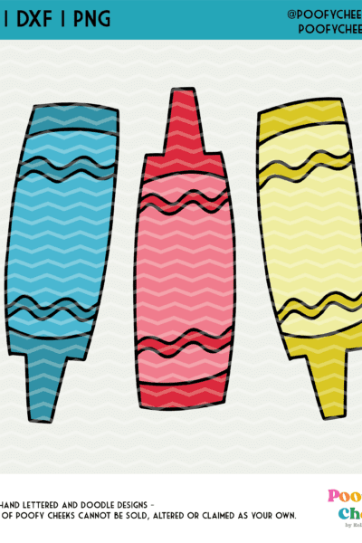 Layered Crayon Cut File – SVG, DXF and PNG for Silhouette Cameo and Cricut Machines