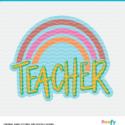 Teacher Rainbow Cut File