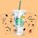Fall Starbucks Cold Cup SVG