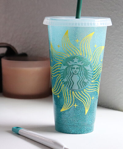 Putting a Vinyl Decal on a Starbucks Cold Cup