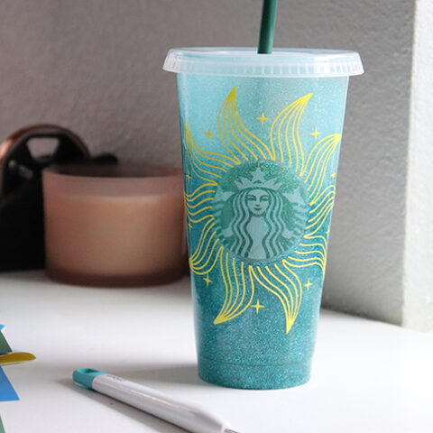 Vinyl Decal on a Starbucks Cold Cup