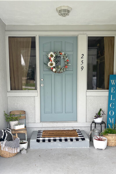 Painted Front Door Before and After