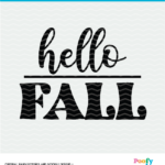 Hello Fall SVG Digital Design