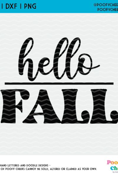 Hello Fall SVG Cut File, Fall Cut File for Cricut or Silhouette