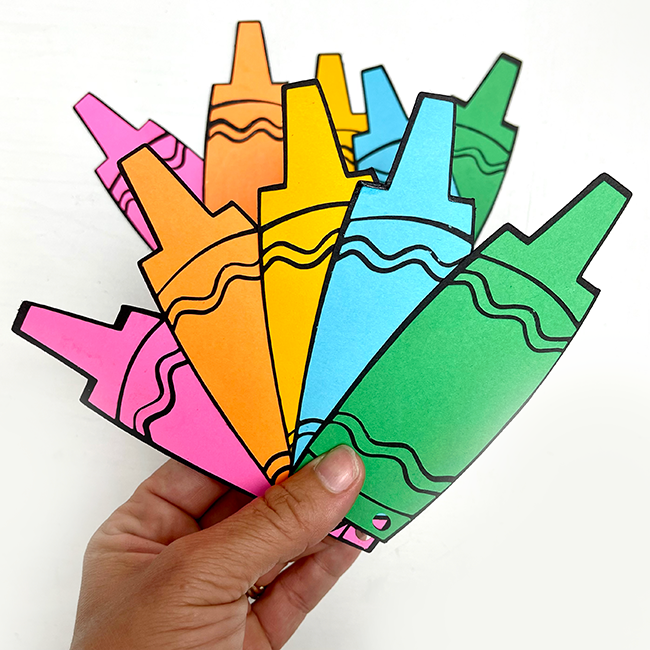 Layered Cardstock Crayon Banner