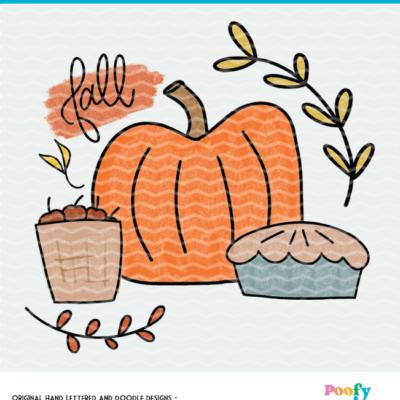Fall Pumpkin Sublimation PNG