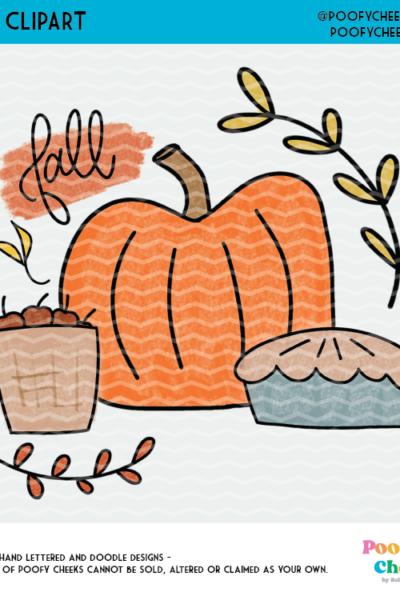 Free Fall Pumpkin Sublimation Design – PNG Format