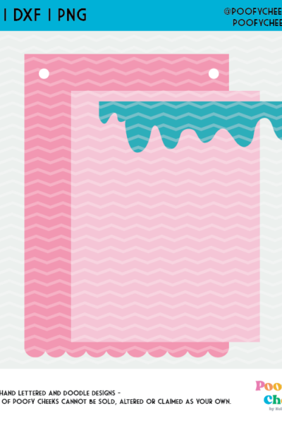 Cardstock Ice Cream Banner Cut File, Party Banner for Cricut and Silhouette Cameo
