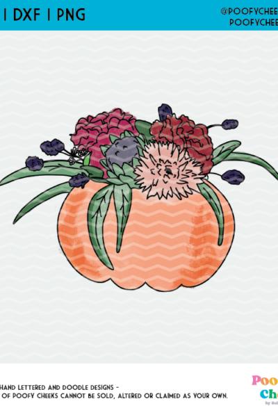 Free Floral Pumpkin Clipart for Sublimation