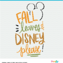 fall leaves and disney SVG digital design