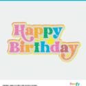 Happy birthday SVG digital design