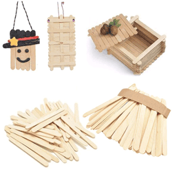 Popsicle sticks and craft sticks