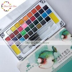Solid Watercolor Paint Set with Watercolor Brush