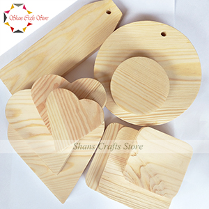 Wooden Shapes for Art & Craft