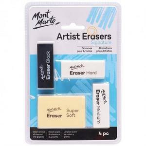 Mont Marte Signature Artist Erasers 4pc