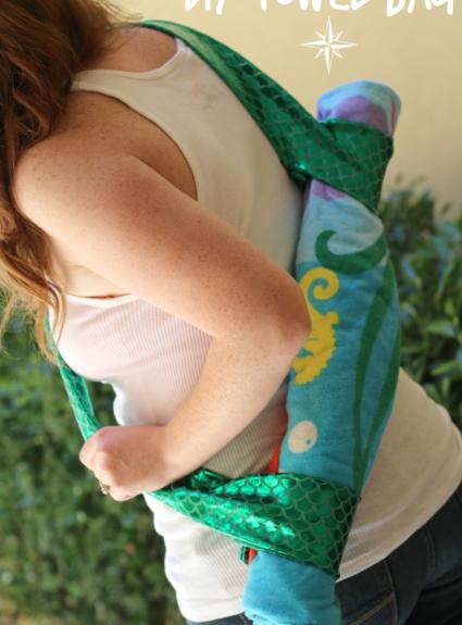 DIY Towel Bag ft Huggies Little Swimmers