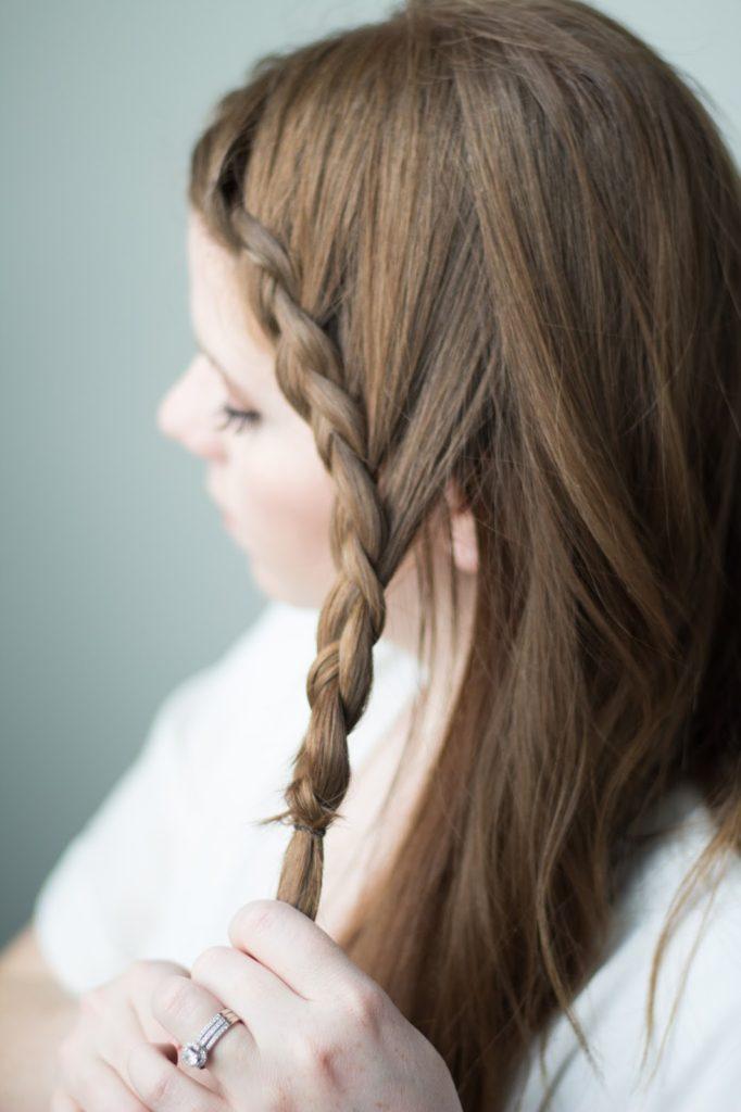 braided side bun