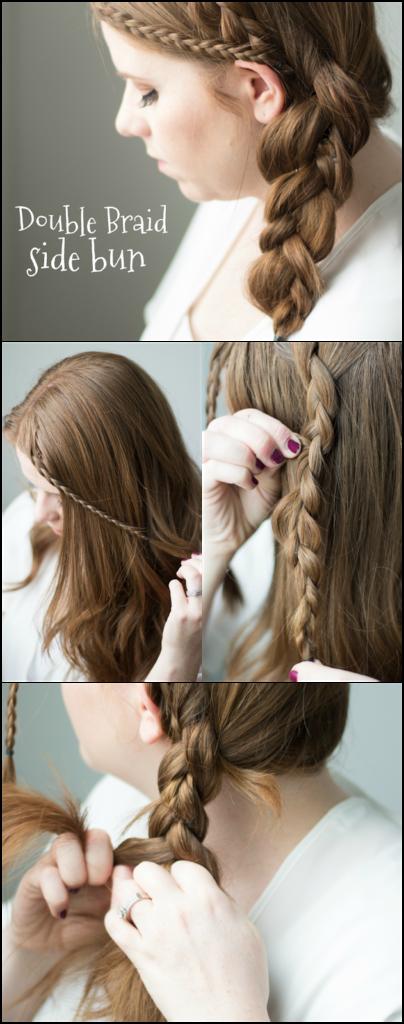 easy double braid tutorial