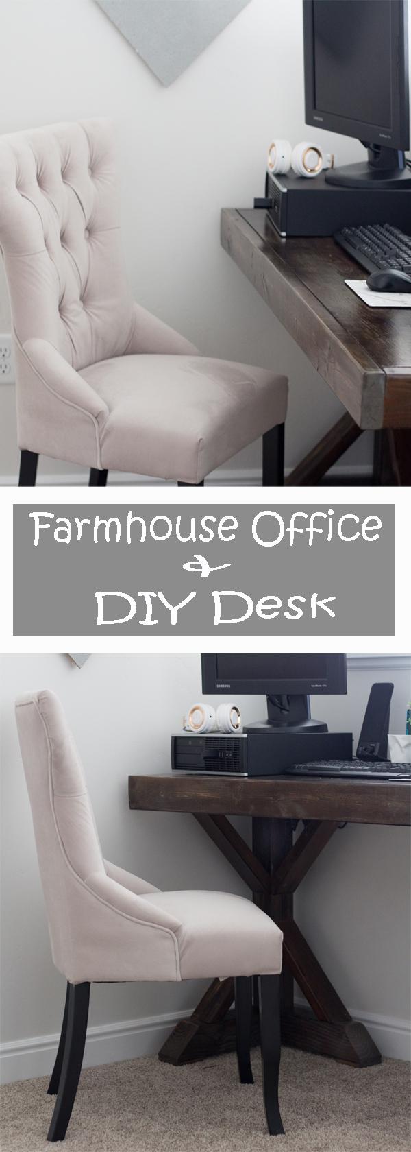 Farmhouse Office and DIY Desk