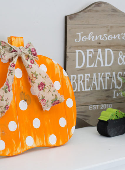 Fall Polka Dot Pumpkin DIY