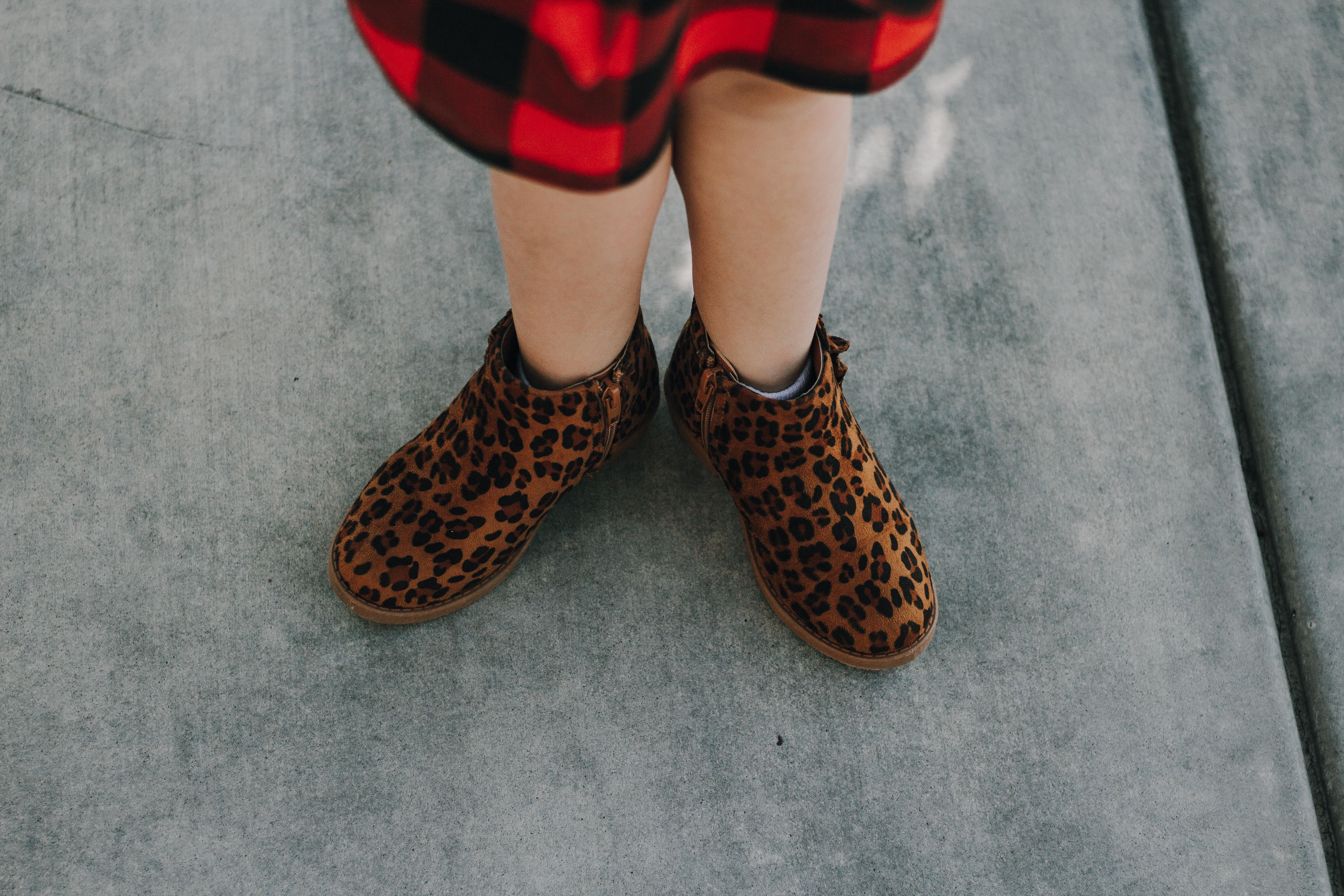 animal print booties
