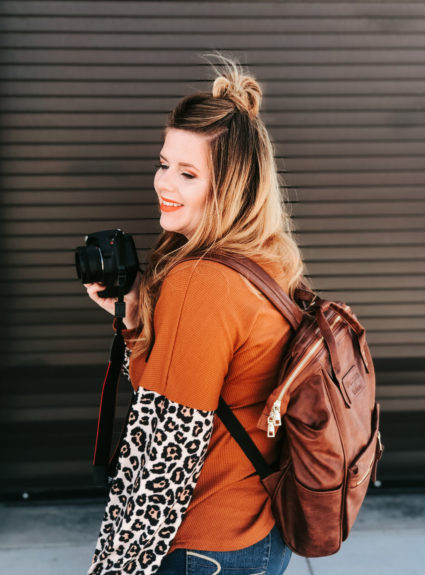 My Blogger/Camera Bag ft Navy Peach
