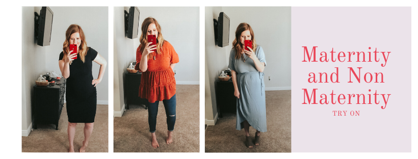 maternity and non maternity try on