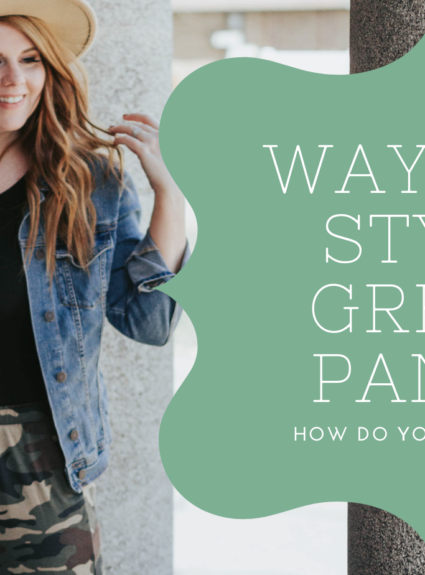 Three ways to style Green Pants