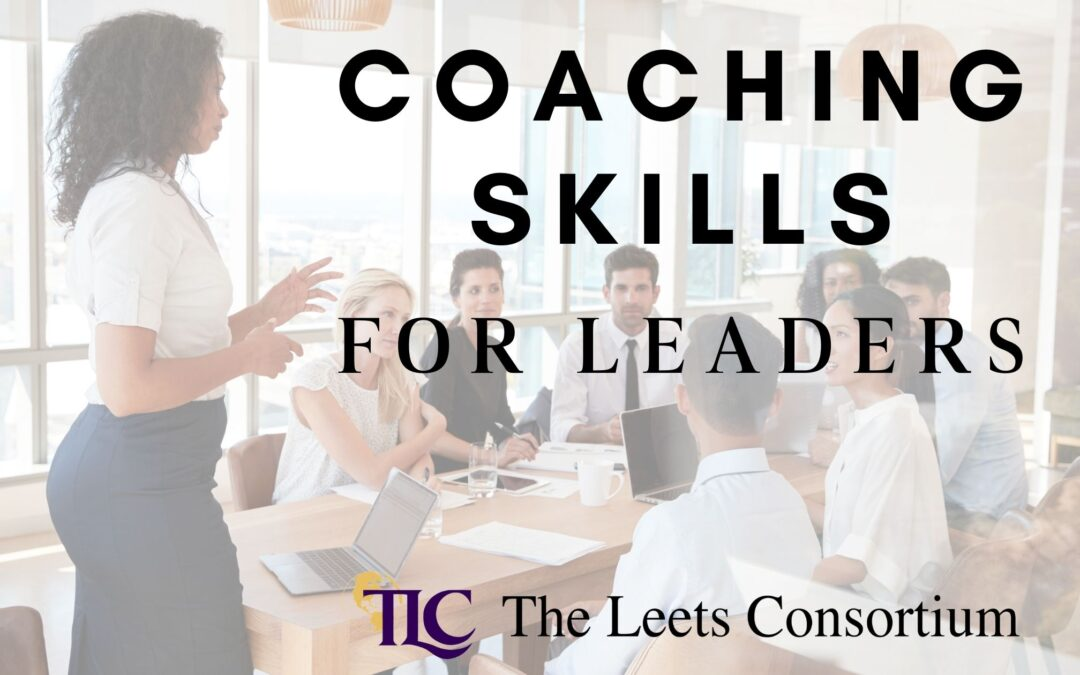 Coaching Skills for Leaders. Picture of a woman coaching her employees
