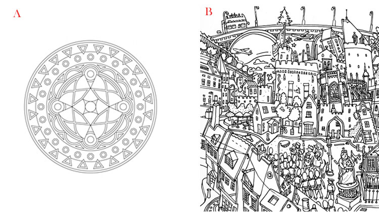 mandala coloring versus normal coloring