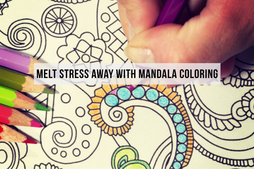 mandala adult coloring books for stress relief