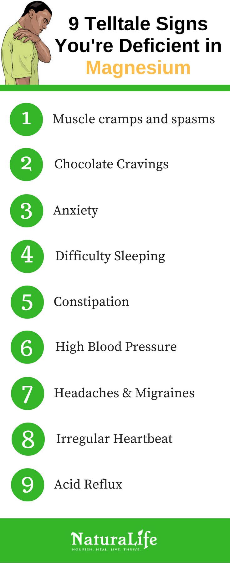 9 symptoms of a magnesium deficiency