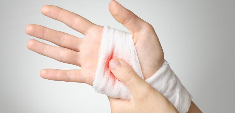 bandaged wound