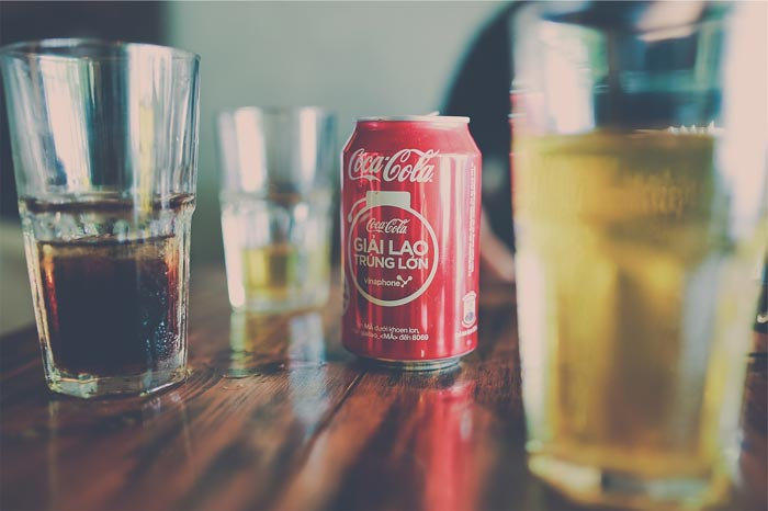 sugary drinks and soda