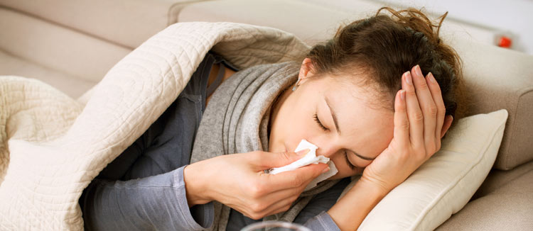sick due to weak immune system
