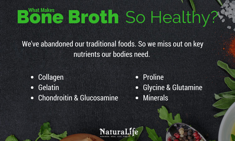 what makes bone broth so healthy infographic