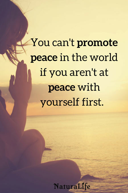 You Can't Promote Peace If You Aren't at Peace With Yourself quote